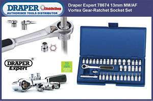 Draper 78674 Expert 13mm Vortex Socket Set MM/AF 37pc