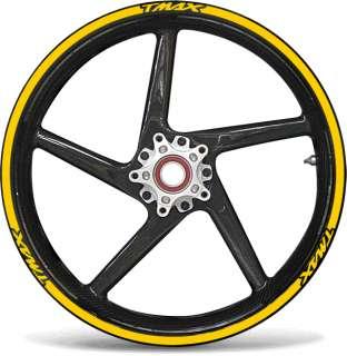 Adesivi moto YAMAHA TMAX strisce RACING3 cerchi ruote