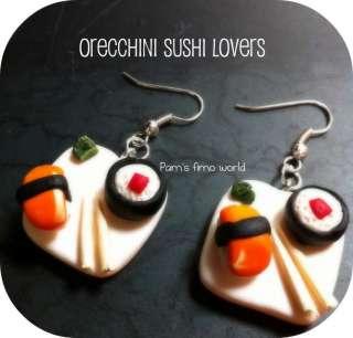 Orecchini sushi in fimo a Verona    Annunci