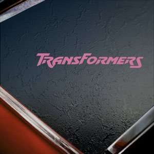 Transformers Pink Decal Car Truck Bumper Window Pink