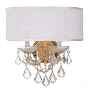 Brentwood Collection Polished Gold Finish 2 Lights Chandelier: Home
