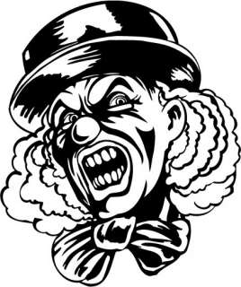 STICKER macchina evil clowns 131   15,4x18,3 cm.   6.1x