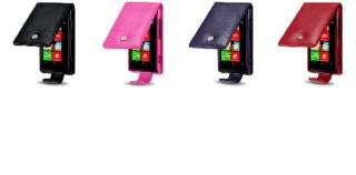 Funda de Cuero para Nokia Lumia 800 color Rosa.