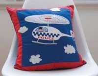 Kas Kids Heroes Fire Truck Engine Soft Toy Cushion NEW