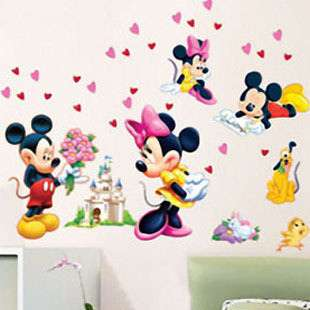 Mickey Mouse Love Childrens Room/Nursery Wall Stickers