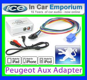 Peugeot 406 AUX iPod iPhone MP3 player Peugeot iPod iPhone adapter