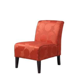 Linon Lily Matelesse Burnt Orange Slipper Chair   36092BORG 01 AS U