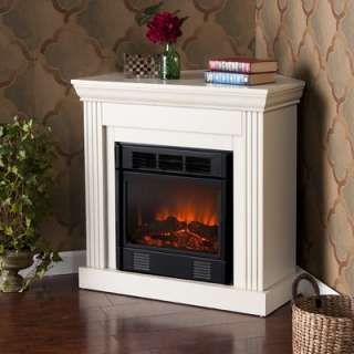 Home Cressman Convertible Petite Electric Fireplace in Ivory  Wayfair