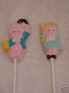 PORKY PETUNIA PIG Lollipop Chocolate Candy Soap Mold