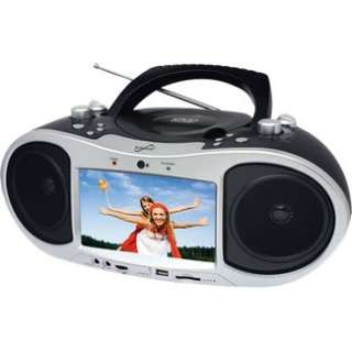 SuperSonic SC186D 7 Inch Portable Boombox DVD Player in Portable DVD