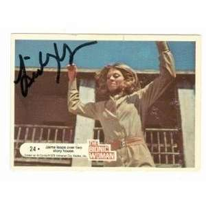 Lindsay Wagner autographed card The Bionic Woman #24: