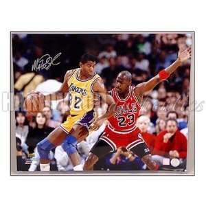 Magic Johnson Autographed Photograph   16x20 Jordan