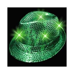 up Fedora Hat   Kelly Green St. Patricks Day Parade Hat with Lights