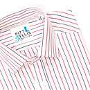 boys executive red, white & blue shirt by pitt & ellis clothing