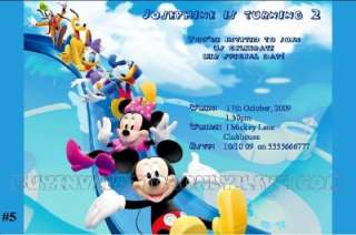 Mickey Minnie Mouse Personalised Invitations/Invite