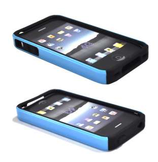 NEW Blue 2 PIECE HARD CASE COVER FOR APPLE IPHONE 4G