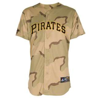 Pittsburgh Pirates Jersey Camouflage Majestic Military Day Pittsburgh