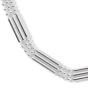 Sterling Silver Triple Strand 18 Necklace