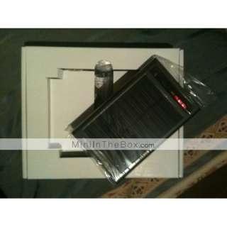 de energia solar lanterna + para celulares iphone 4/3g/3gs (preto