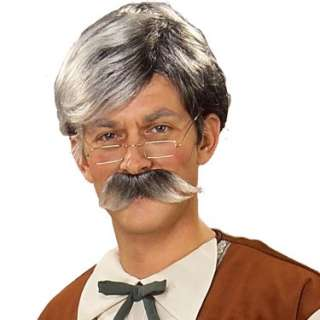 Halloween Costumes Geppetto Wig and Moustache   Grey