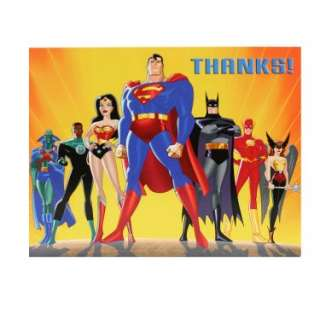 Halloween Costumes Justice League Thank You Cards (8 count)