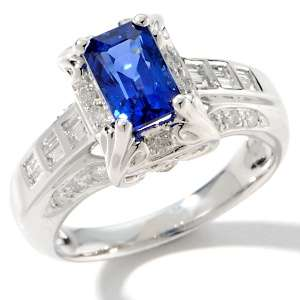 Kind 2.4ct Ceylon Sapphire and Diamond 14K White Gold Ring