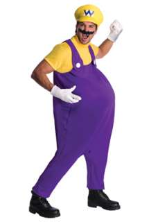 Super Mario Brothers Wario Adult Costume for Halloween   Pure Costumes