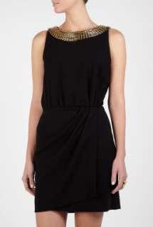 Moschino Cheap & Chic  Safety Pin Embelished Neck Dress by Moschino