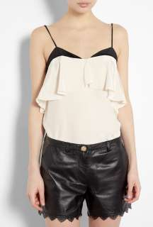 Paul Smith Black  Neutral Frill Front Strappy Top by Paul Smith Black