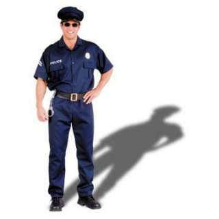 Police Officer Costume Adult   Includes blue shirt with front