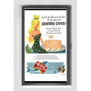 MERMAID CHICKEN OF THE SEA 1954 RETRO AD Credit/Business Card Case USA