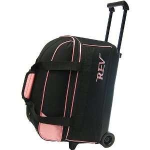 Rev Double Roller Pink/Black Bowling Bag  Sports