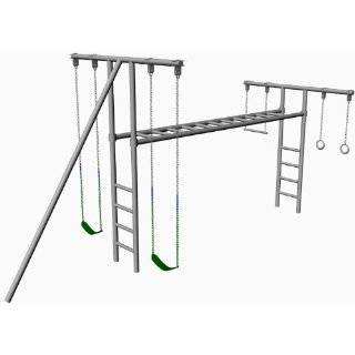 MT 40 8 Ft Tall Swing Set   2 Swing Seat, Trapeze Bar, 10