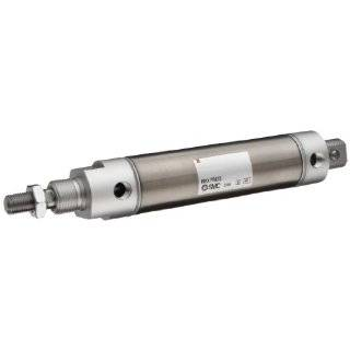 SMC NCM Series Stainless Steel Air Cylinder, Round Body, Double Acting