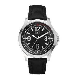 Andrew Marc Mens Club Blazer Stainless Steel Case With Black Strap