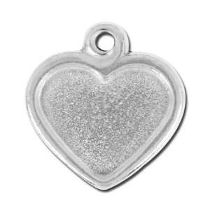 22mm Antique Silver Victorian Heart Frame Charm by