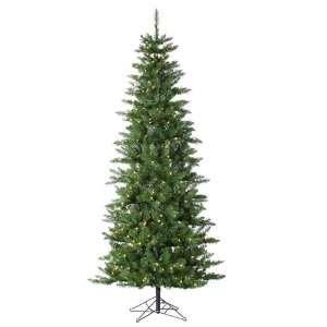Pre Lit Slim Augusta Pine Artificial Christmas Tree   Clear