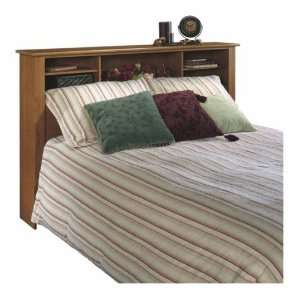 Caramel Birch Full or Queen Bookcase Storage Headboard