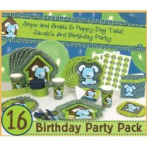Boy Puppy Dog   16 Birthday Party Pack Toys & Games