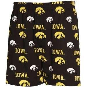 Iowa Hawkeyes Black T2 Boxer Shorts