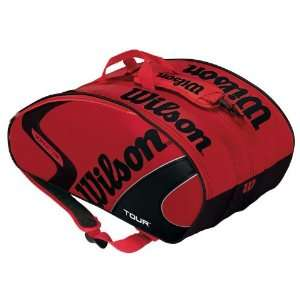 Wilson [K] Tour Super Six Tennis Bag   Black/Red