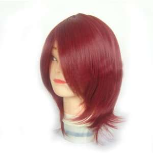 Short red Bob Soul Eater Death Scythe hair Cosplay party Wig jf010054