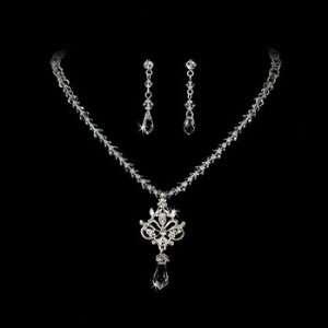 Swarovski Crystal Necklace and Earring Set Bridal Set