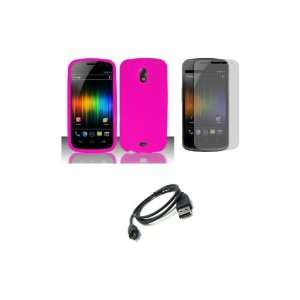 (Verizon) Premium Combo Pack   Pink Silicone Soft Skin Case Cover