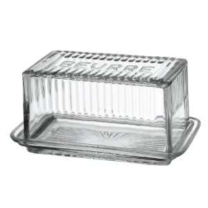 America Retold Glass Butter Dish: Kitchen & Dining