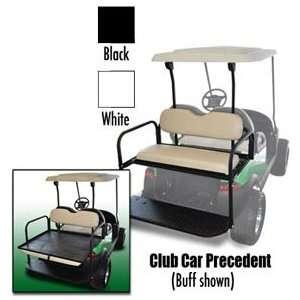 Cart Rear Seat Club Car Precedent Black Cushions