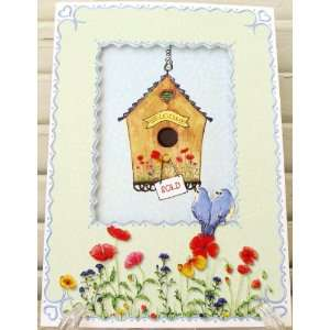 Carol Wilson New Home Congratulations Card Birdhouse