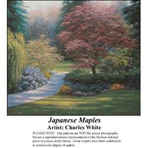 Japanese Maples, Counted Cross Stitch Patterns PDF
