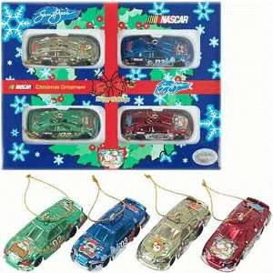 Nascar Sam Bass Team Caliber Christmas Ornaments Set