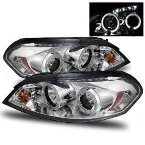 06 07 Chevy Impala Chrome LED Halo Projector Headlights